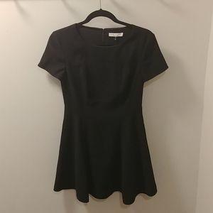 Halston Heritage Fit and Flare Dress- black, sz 4